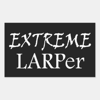 極度なLarper 長方形シール