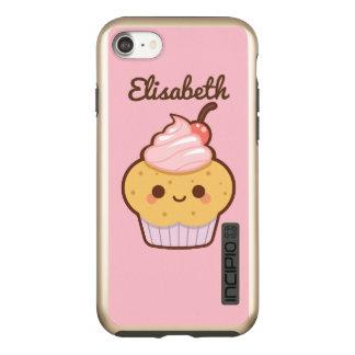 極度のかわいいかわいいの甘いカップケーキのさくらんぼの名前をカスタムする INCIPIO DualPro SHINE iPhone 7ケース