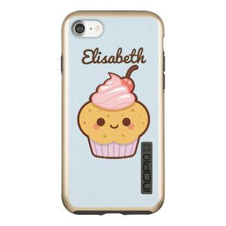 極度のかわいいかわいいの甘いカップケーキのさくらんぼの青 INCIPIO DualPro SHINE iPhone 7ケース