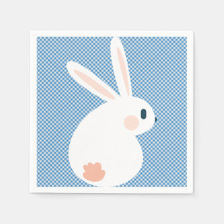 極度のかわいいのかわいいイースターのウサギ スタンダードカクテルナプキン