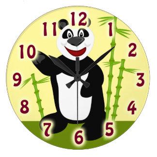 極度のかわいいパンダくま ラージ壁時計