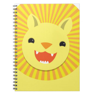 極度のかわいいライオンの顔の微笑! NP ノートブック