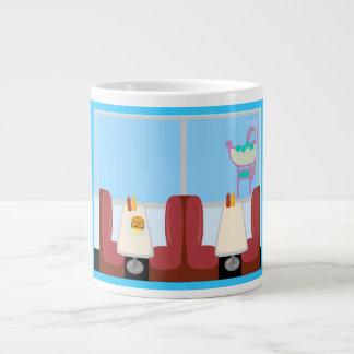 極度のかわいいレトロの五十年代のダイナー ジャンボコーヒーマグカップ