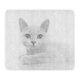 極度のかわいい子ネコ猫のポートレート カッティングボード