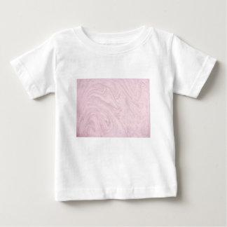 極度のガーリーなピンクの大理石の抽象美術の渦巻! ベビーTシャツ