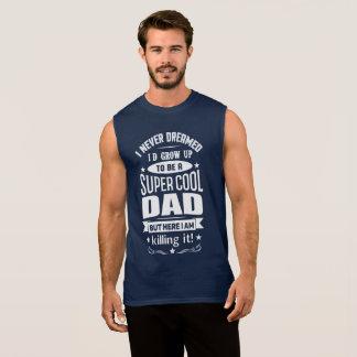 極度のクールなパパの袖なしのタンクトップ 袖なしシャツ
