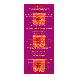 極度のクールな結婚式プログラム 10.2 X 23.5 インビテーションカード