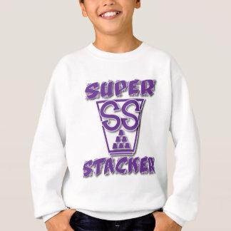 極度のスタッカーの紫色 スウェットシャツ