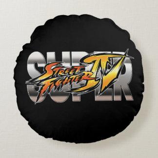 極度のストリート・ファイターIVのロゴ ラウンドクッション