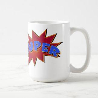 極度のスーパーヒーローの喜劇的な行為の単語 コーヒーマグカップ
