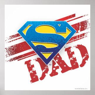 極度のパパのストライプ ポスター