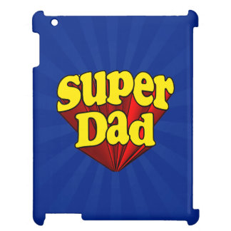 極度のパパ、スーパーヒーローの赤くか黄色か青い父の日 iPad CASE