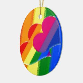 極度のプライドの虹のBiのプライド セラミックオーナメント