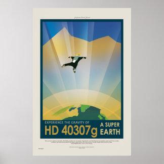 極度の地球旅行-レトロNASA旅行ポスター ポスター
