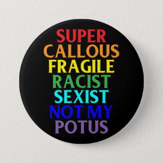 極度の堅い人種差別主義者ない私のPOTUSの政治ユーモア 7.6CM 丸型バッジ