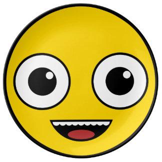 極度の幸せな顔 磁器プレート