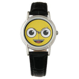 極度の幸せな顔 腕時計