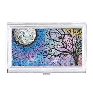 極度の月及び木の景色 名刺入れ