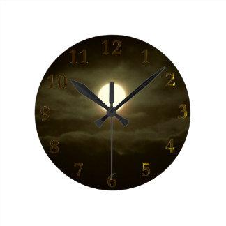 極度の月 ラウンド壁時計