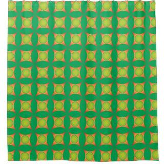 極度の熱狂するな緑のオレンジパターンシャワー・カーテン シャワーカーテン