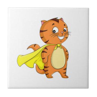 極度の猫の漫画 正方形タイル小