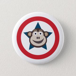 極度の猿のグラフィック 缶バッジ