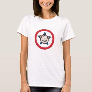 極度の猿の写実的な女性のティー Tシャツ