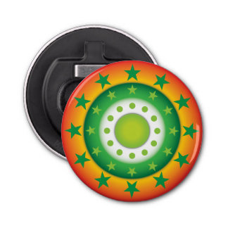 極度の緑の円の星パターン栓抜き 栓抜き