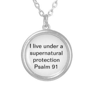 極度の自然な保護聖書の詩の賛美歌91 シルバープレートネックレス
