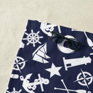 極度の航海のな青 ビーチタオル
