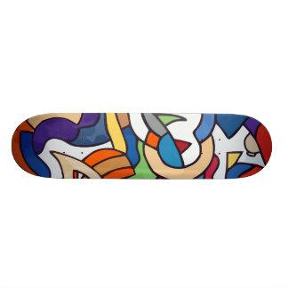極度の落書き板 21.6CM スケートボードデッキ