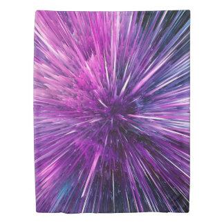 極度の音波-豪華な紫色 掛け布団カバー