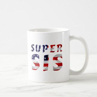 極度のSisおよび米国旗 コーヒーマグカップ