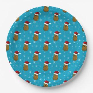 楽しいクリスマスのポテト ペーパープレート