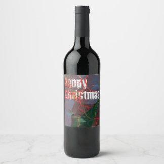 楽しいクリスマスカード ワインラベル