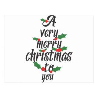 楽しいクリスマス ポストカード