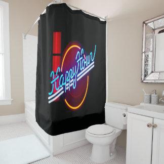 楽しい時間のネオンサインのシャワー・カーテン シャワーカーテン