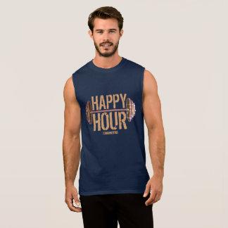 楽しい時間の重量挙げのバーベルの体育館のトレーニング海軍 袖なしシャツ