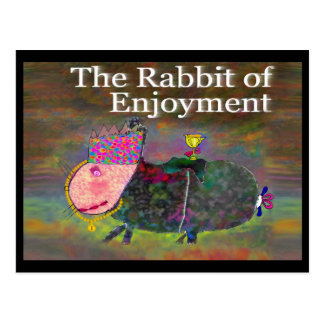 楽しみ[郵便はがき]のウサギ ポストカード