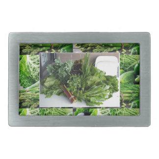 楽しむで葉が多い緑の野菜の健康な選択 長方形ベルトバックル