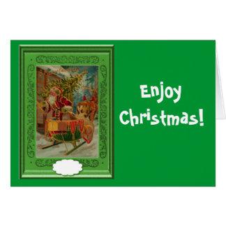 楽しむなクリスマス カード