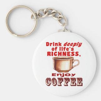 楽しむなコーヒー キーホルダー
