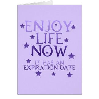 楽しむな今生命挨拶状 カード