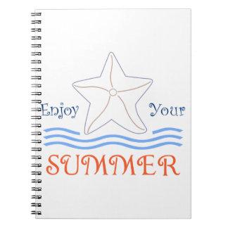楽しむな夏のアップリケ ノートブック