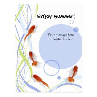 楽しむな夏の挨拶 ポストカード