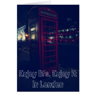 楽しむな生命は、ロンドンのそれを楽しみます カード