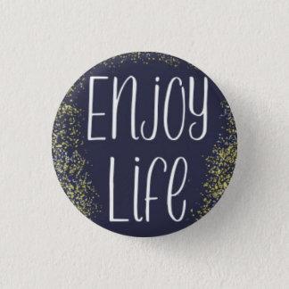 楽しむな生命Pin 3.2cm 丸型バッジ