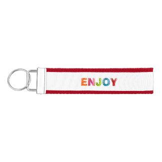 楽しむな虹の手首Keychain リストバンドキーホルダー