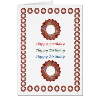 楽しむなnの共有の喜び- HappyBirthdayのハッピーバースデー カード