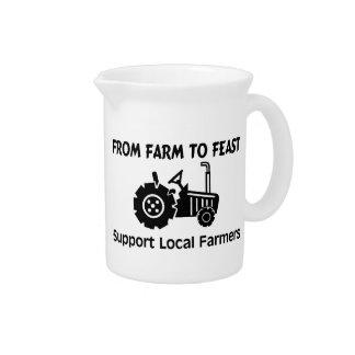 楽しむ農場からのサポート農家 ピッチャー